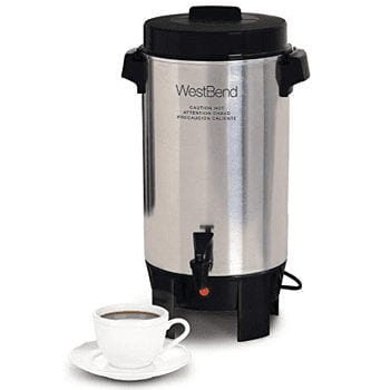 West Best 58002 Polished Aluminum Coffee Urn