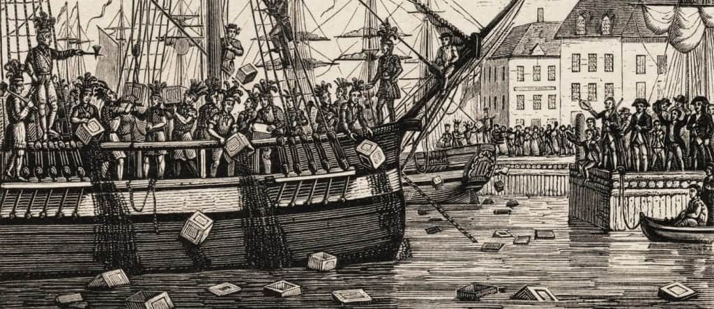 Boston Tea Party and coffee