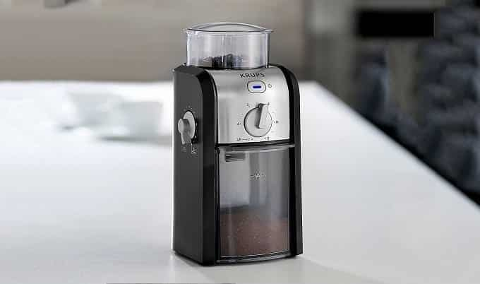 Electric powered burr grinder