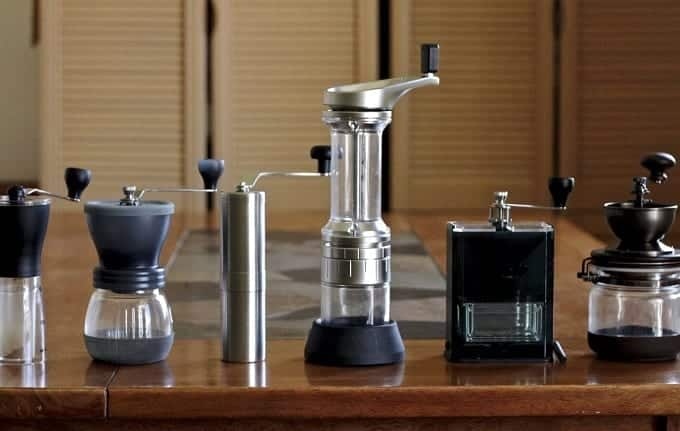 Different Hand Coffee Grinders