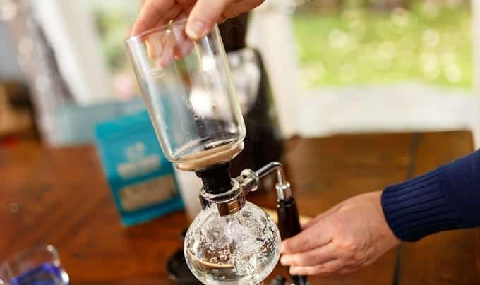 Putting Siphon On Coffee Maker
