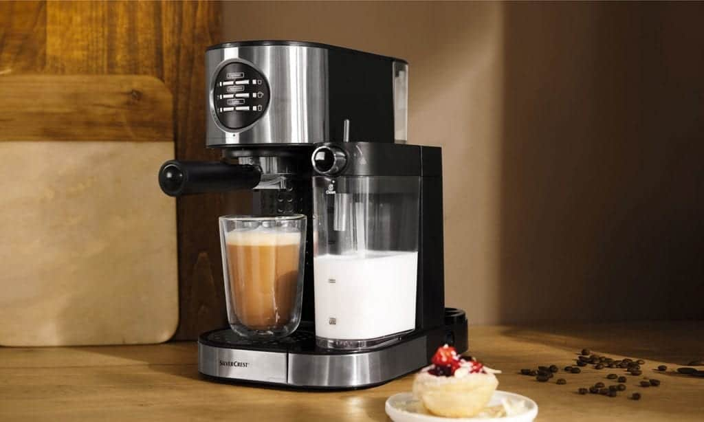 coffee machine milk frother and grinder