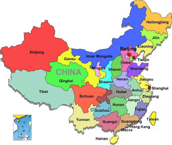 Provinces in China