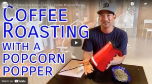 how to roast coffee in a popcorn machine