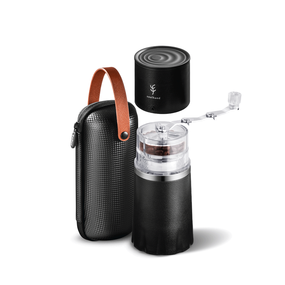 portable hand coffee grinder and pour over coffee maker
